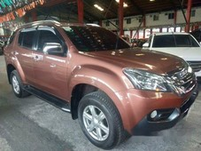 selling brown isuzu mu-x 2017 automatic diesel