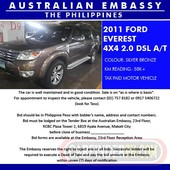 2011 ford everest 4x4 2.0 dsl a t for bidding