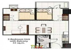 2bedroom penthouse condo with balcony fully furnished at the light residences mandaluyong city
