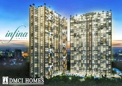 preselling 2br condo in quezon city along aurora blvd. near up town center, ateneo at infina towers by dmci homes
