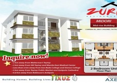 zuri residences dolores taytay rizal lowrise condo for sale with free parking