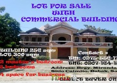 lot for sale with commercial building