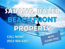 for sale beach front property, sabang, baler
